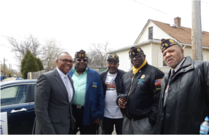 Alderman Brookins (far left) with Commander Hendricks' and the Legion Post Veterans