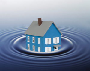 Drowning miniature house